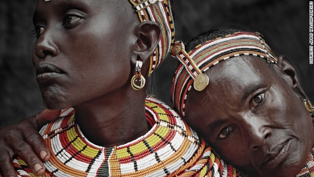 Two women from the Kenyan Samburu tribe