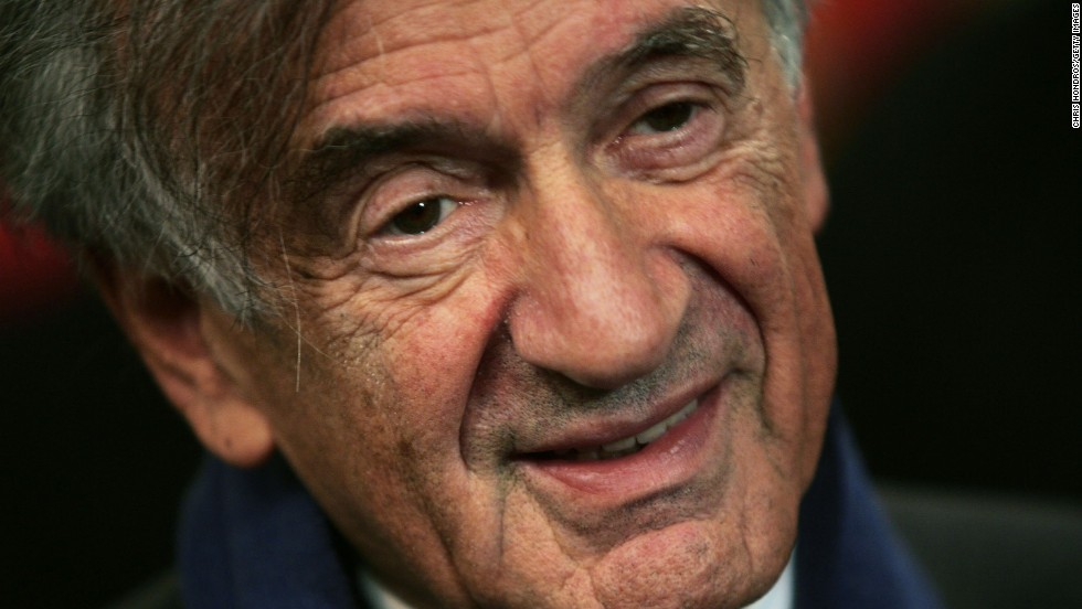 Holocaust survivor Elie Wiesel appears at a press conference at the United Nations on October 27, 2004 in New York. Wiesel won the Nobel Peace Prize in 1986.