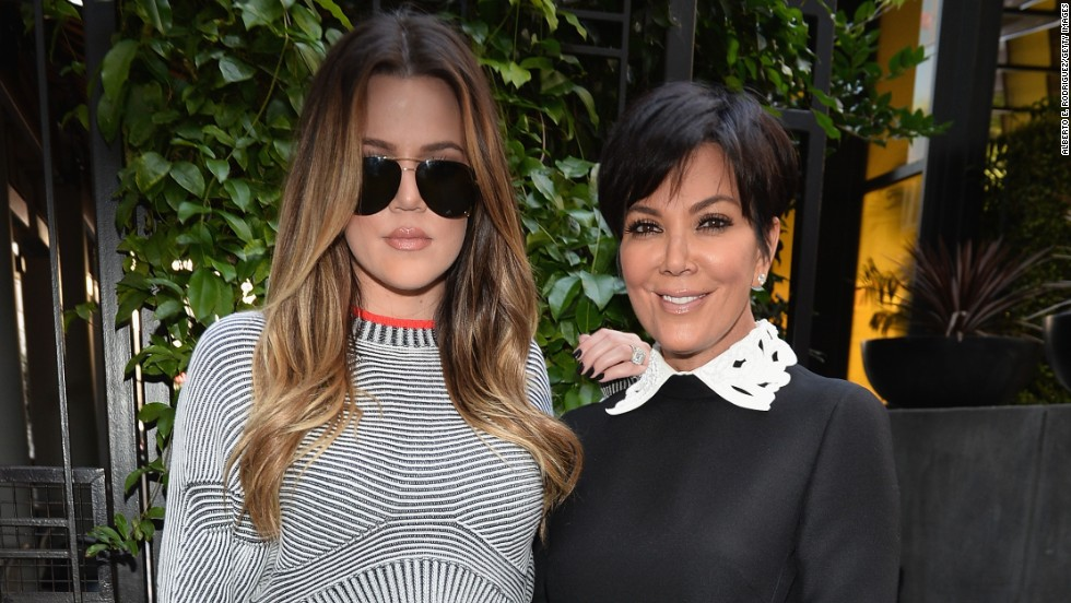 "Khloe Kardashian and Kris Jenner stick to black at the October 10 ceremony honoring Kenneth ""Babyface"" Edmonds new star on the Hollywood Walk of Fame."