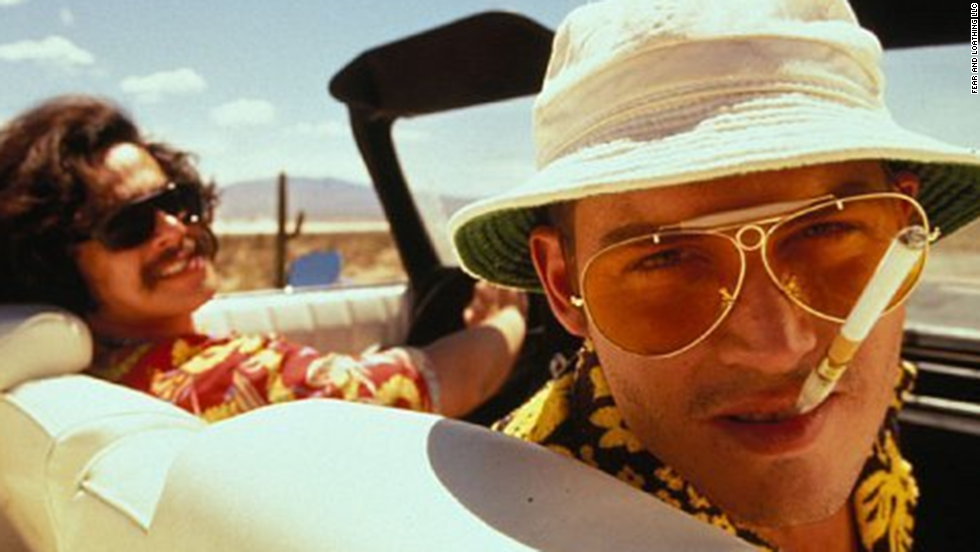 "Johnny Depp, right, as Hunter S. Thompson in ""Fear and Loathing in Las Vegas"""