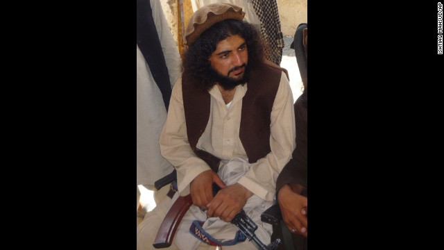 Pakistani Taliban commander Latif Mehsud in Sararogha in south Waziristan, Pakistan, in this October 4, 2009 photo.