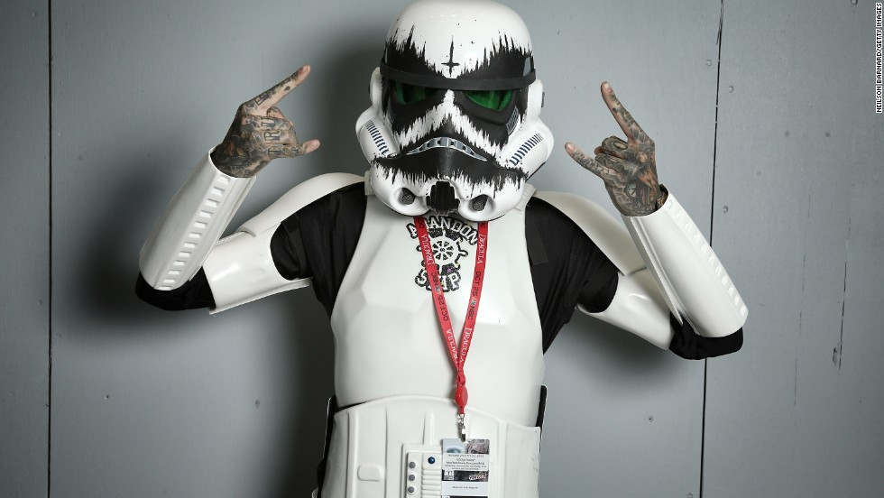 What would a comic book convention be without a variety of Stormtroopers?