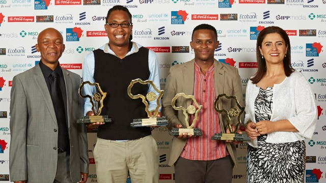 Msindisi Fengu and Yandisa Monakali share the top honors at the CNN MultiChoice African Journalist Awards 2013.