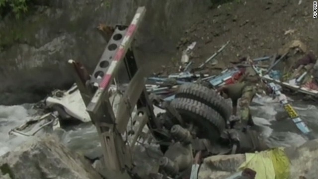 Peru bus plunges off cliff, kills 51