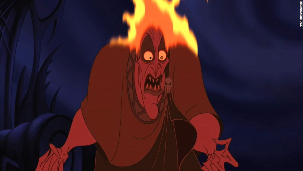 "Hades the Greek god of the Underworld in Disney's 1997 movie, ""Hercules,"" is another villain who, like ""Peter Pan's"" Captain Hook, is comedic yet powerfully murderous. He is a sleazy, hot-tempered god who makes it his life's work to steal the throne of his brother, Zeus, to be the ruler of Mount Olympus."