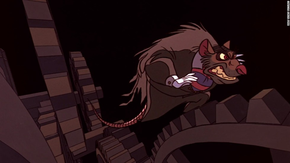 "While he is not one of Disney's most famous villains, Professor Ratigan in the 1986 mystery, ""The Great Mouse Detective,"" certainly delivers with his Jekyll and Hyde personality. He is seen as charismatic and calm, yet detests and even refuses to believe that he is a rat. He makes plans to overthrow the Queen of Mousedom."