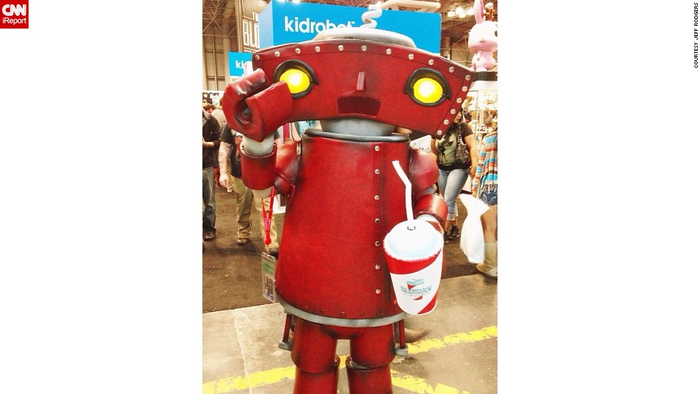 "Fans of J.J. Abrams' work will recognize this <a href=""http://instagram.com/p/fXmrOlCDCn/"" target=""_blank"">""Bad Robot.""</a>"