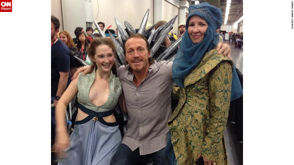 """""""Game of Thrones"""" star Jerome Flynn, center, met some fans and had a seat on the <a href=""""http://instagram.com/p/fYA25XnlWH/"""" target=""""_blank"""">""""Iron Throne.""""</a>"""