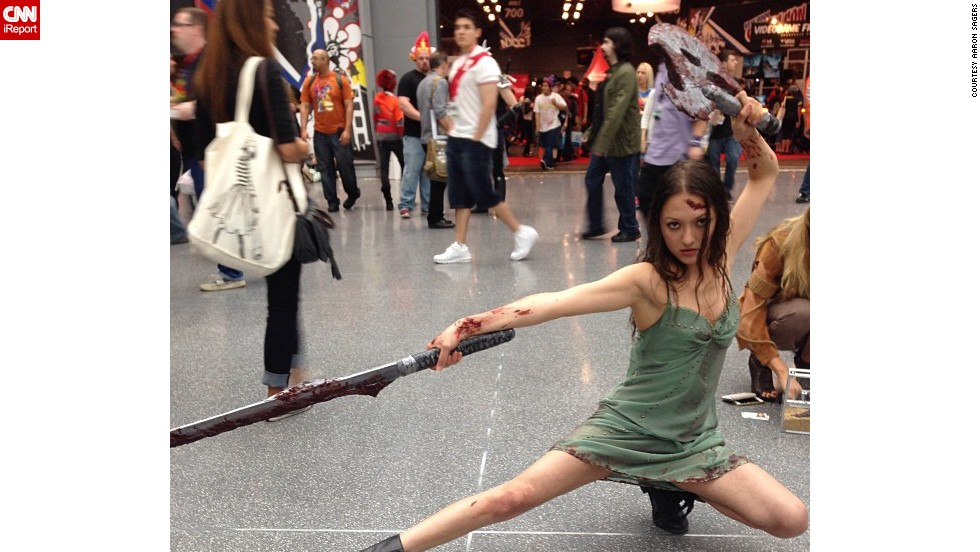 """This cosplayer poses as <a href=""""http://instagram.com/p/fVvqDQHlZc/"""" target=""""_blank"""">River</a>, as seen on the poster for the """"Firefly"""" movie adaptation """"Serenity."""""""