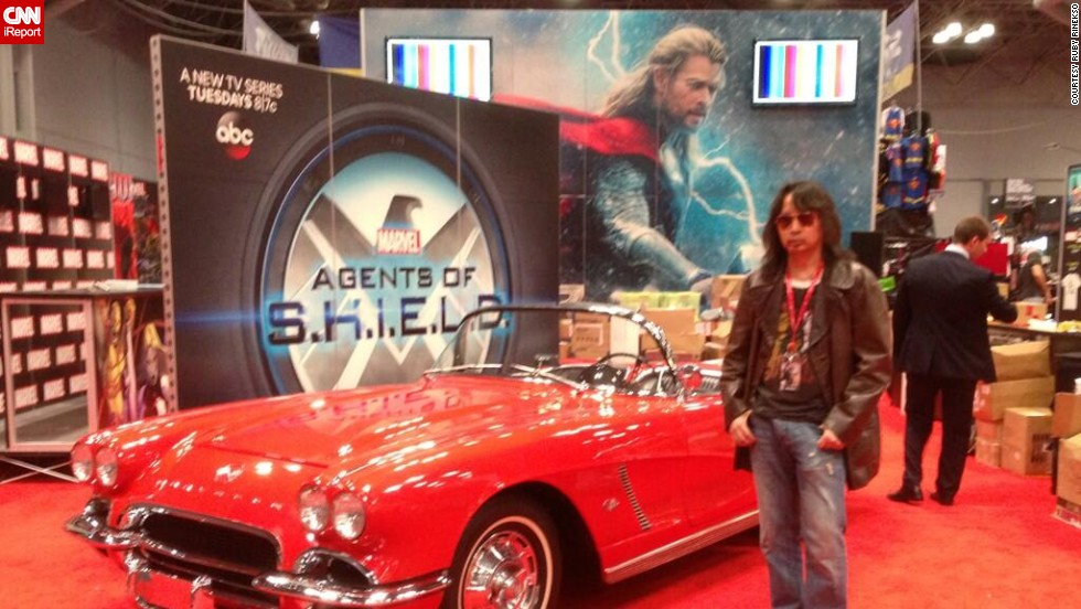 """Ruby Rinesko joked that early convention attendees might get to <a href=""""http://t.co/nAeUStpoy3"""" target=""""_blank"""">""""touch Lola,""""</a> referring to a line about Agent Coulson's car on the hit ABC series """"Marvel's Agents of S.H.I.E.L.D."""""""