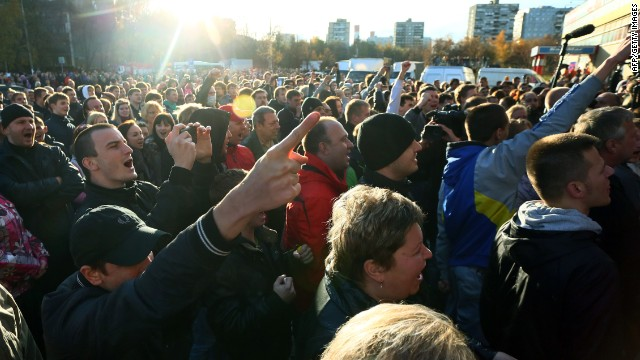 Mass rioting broke out in a southern district of Moscow after the fatal stabbing of an ethnic Russian man on October 13.