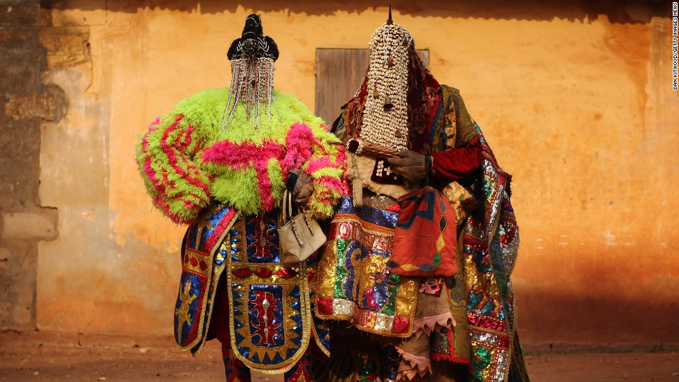 During Benin's annual Voodoo festival, people from across Benin and West Africa descend on the town of Ouidah for a week of Voodoo-related activities.