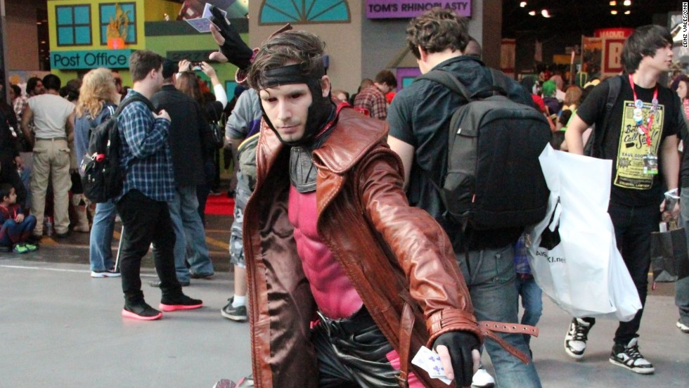 X-Men's Gambit gets ready for a fight.