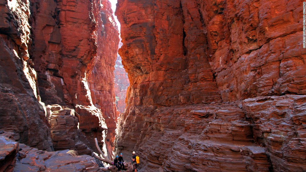 Located in the remote Pilbara mining region, Karijini is as magnificent as the Kimberley but with a fraction of the crowds. The rugged gorges and sparkling rock pools are star attractions.