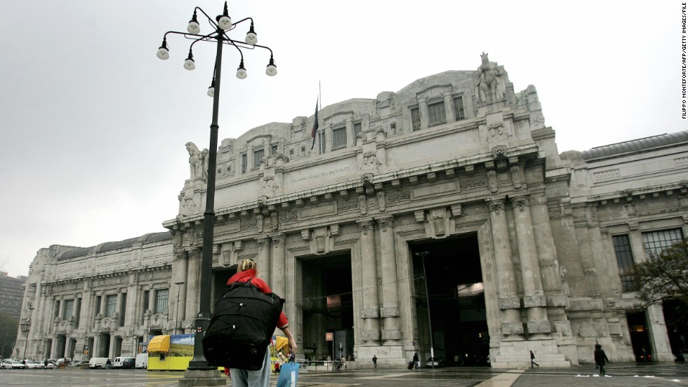 The spectacular Milano Centrale is the main railway station of Milan, Italy. Furnished with 11,000 cubic meters of marble flooring and home to an array of stone sculptures, the 82-year-old terminus is as much a cultural destination as it is a transit hub.