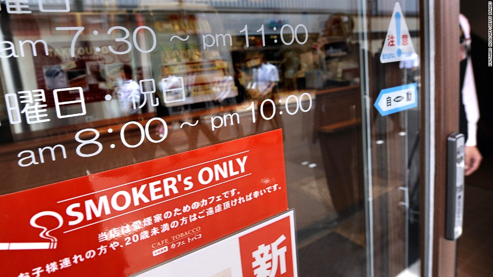 """The smaller and homier a bar or restaurant, the more likely it is to be smoker-friendly. Street patrols, however, stop people who engage in aruki-tabako, or """"walking-smoking."""" Meanwhile, cracking open a beer or can of boozy chu-hai on the walk or train home is a cherished tradition."""
