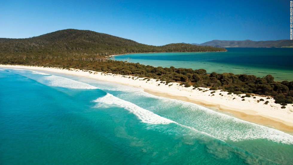 "Known as ""Noah's Ark"" for its endangered animals, including the Tassie Devil and Cape Barren Goose, this east coast island features deserted beaches, rugged cliffs and eucalyptus forests."