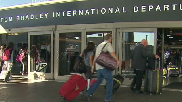 Police: Arrest in LAX dry ice blasts