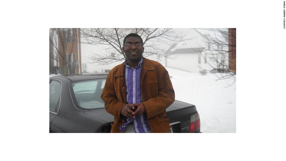 "After being awarded a scholarship, Otieno earned a Masters degree in communications and development at Ohio University. ""Getting the scholarship was life-changing for me,"" he recalls."