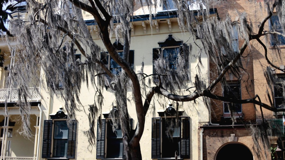 """Robert Edgerly, founded one of the city's popular walking ghost tours and authored """" Savannah Hauntings,"""" a book about ghosts in the area."""