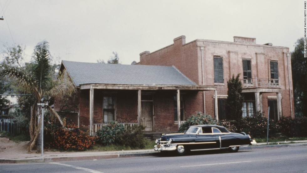 "The Whaley House, located in San Diego, California, (shown here circa 1965) was designated the most haunted house in America by the television show ""America's Most Haunted."""