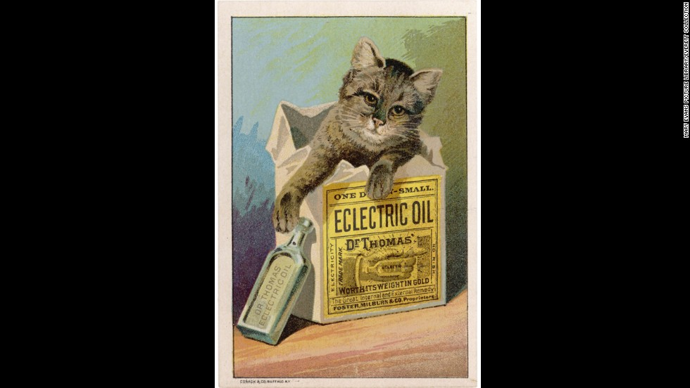 "<a href=""http://ead.lib.virginia.edu/vivaxtf/view?docId=vt/viblbv00404.xml"" target=""_blank"">Dr. Thomas' Eclectric Oil</a> was possibly the most over-achieving of all home remedies. It claimed to be able to cure anything from toothaches and earaches to lameness and deafness. And it only <a href=""http://digital.lib.ecu.edu/20920"" target=""_blank"">cost 50 cents a bottle</a>."