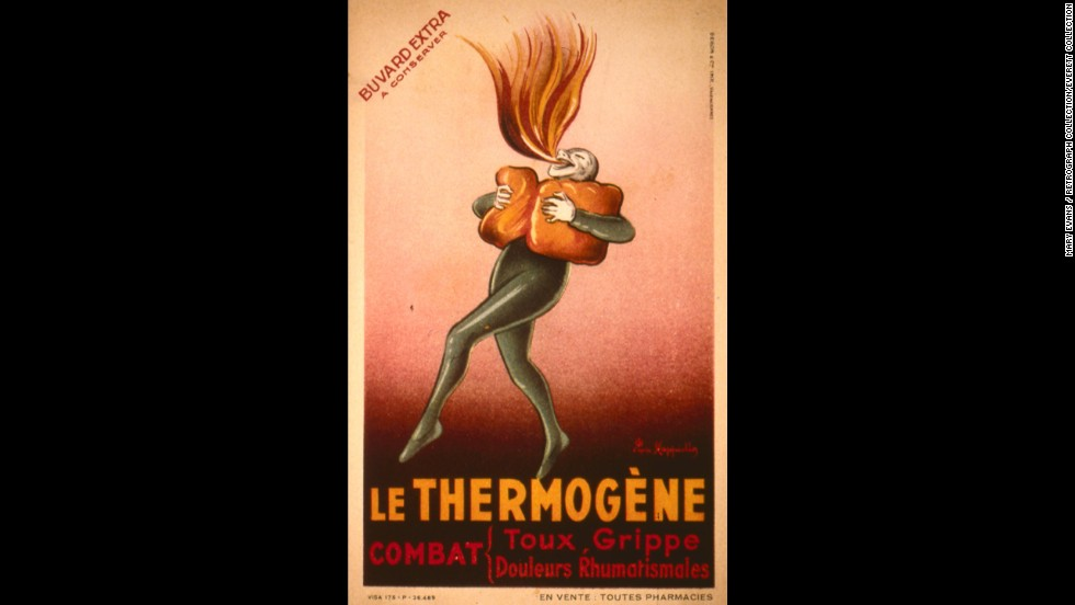 "<a href=""http://www.philamuseum.org/collections/permanent/199889.html?mulR=1658"" target=""_blank"">Le Thermogene</a> was a popular European remedy designed to treat coughs, the flu and rheumatic pains. The cotton wadding was treated with capsicum, a type of plant that creates heat when applied to the body."