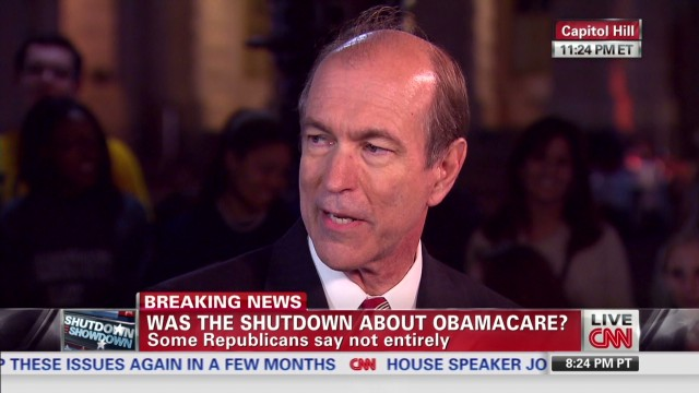 Was the shutdown about Obamacare?