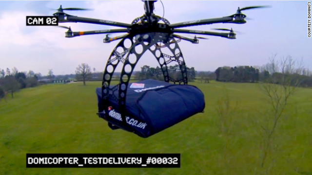 Domino's has tested the possibility of delivering pizza via the DomiCopter drone