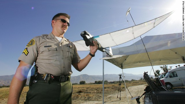 Los Angeles County Sheriff's Department began experimenting with the SkySeer Search and Rescue drone in 2006