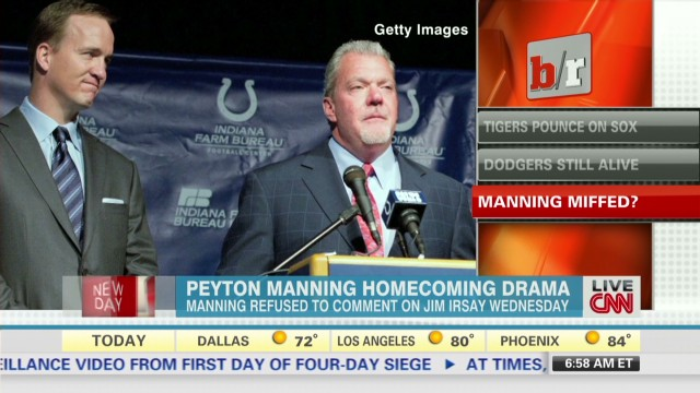 2013: Irsay's Manning comment draws criticism