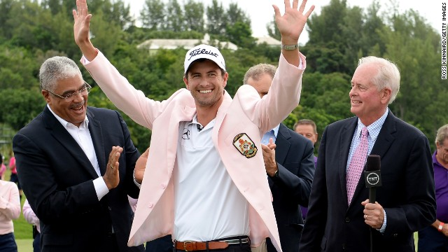 World No. 2 Adam Scott won the first major of his career at the Masters in April.