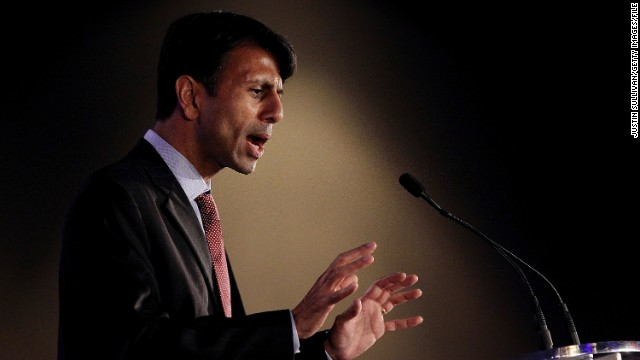 NEW ORLEANS, LA - JUNE 17:  Louisiana Governor Bobby Jindal speaks during the 2011 Republican Leadership Conference on June 17, 2011 in New Orleans, Louisiana. The 2011 Republican Leadership Conference runs through tomorrow and will feature keynote addresses from most of the major Republican candidates for president as well as numerous Republican leaders from across the country.  (Photo by Justin Sullivan/Getty Images)