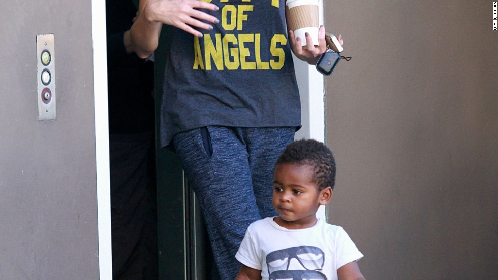 Charlize Theron and her son Jackson were spotted in Los Angeles on October 16.