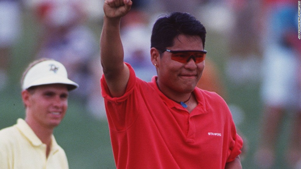 A youthful Begay clinches the men's golf title for Stanford University at the NCAA Division 1 championships in 1994.