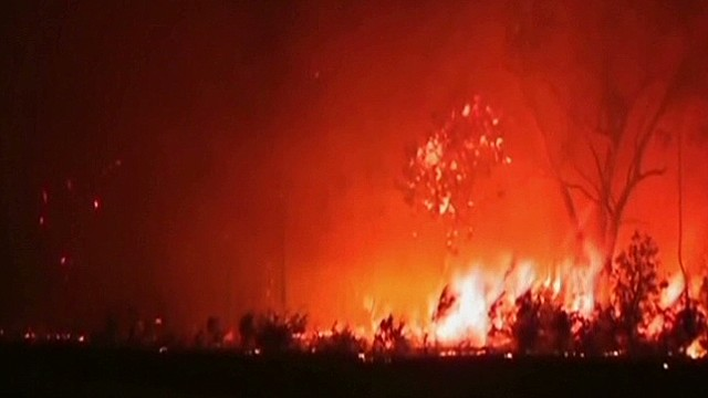 Hundreds of homes burned in Australia