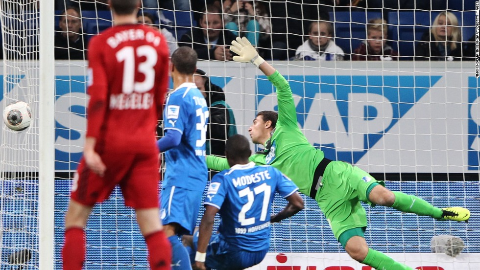 Stefan Kiessling of Bayer Leverkusen was awarded a goal in a 2013 German league game, even though the ball went through the side netting. He eventually apologized to opposing fans.