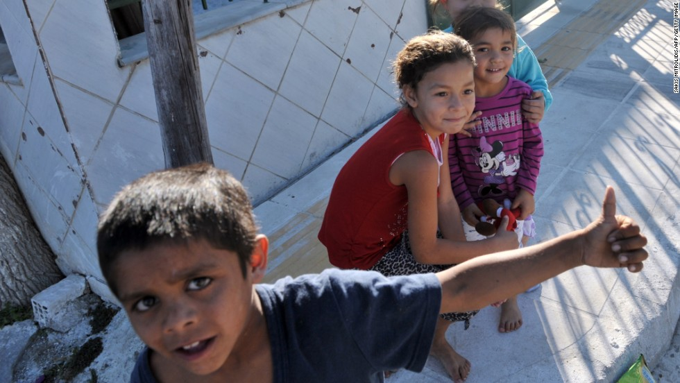 "Children play in a Roma settlement in Farsala, Greece, where the <a href=""http://www.cnn.com/2013/10/21/world/europe/greece-mystery-girl/index.html?hpt=hp_t1"">'Mystery Girl' was found</a> on Saturday, October 19. The case has generated huge interest in Greece."