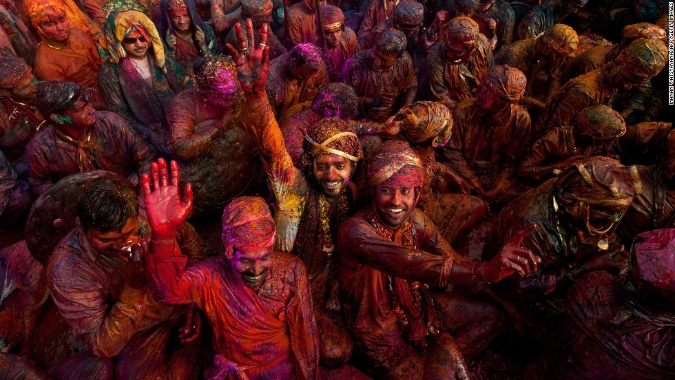 You won't find a better chance to experience Indian hospitality than at one of the many festivals held every week. Here, revelers smear colored powder for Lathmar Holi festival in Nandgaon.