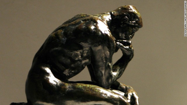 "There are 28 castings of Auguste Rodin's famous ""The Thinker,"" a bronze figure originally named ""The Poet."""