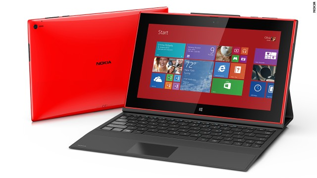 The new 10-inch Lumia 2520 tablet from Nokia runs the Windows RT operating system and costs $499.