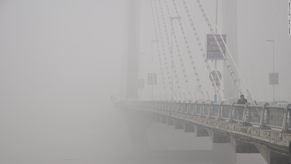 Fog covers a bridge in Jilin, China, on October 21.