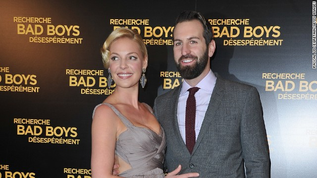 Katherine Heigl and Josh Kelley attend the Paris Premiere of 'One For The Money' film at Cinema Gaumont Marignan on January 31, 2012 in Paris, France.