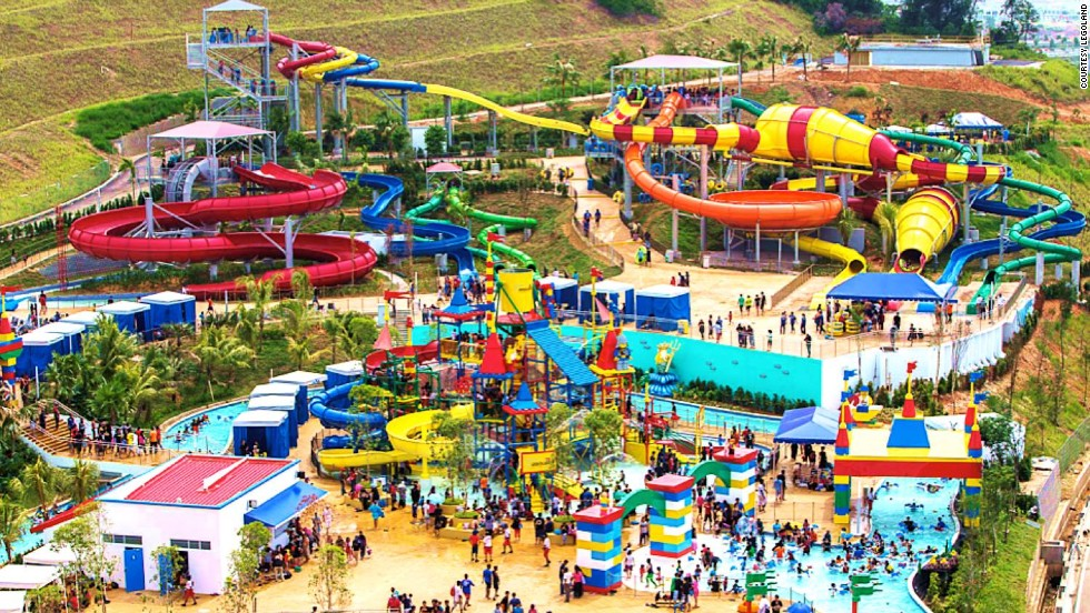 The 300,000-square-meter Legoland Malaysia Water Park is the block brand's largest, beating out its California and Florida counterparts. The new park has more than 20 water-based attractions and 70 Lego models.