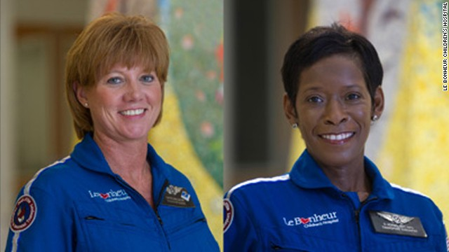 Pedi-Flite Nurse Carrie Barlow (left) and Pedi-Flite Respiratory Therapist Denise Adams (right) died in the crash. Also killed was Hospital Wing pilot Charlie Smith.