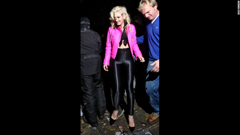 "Gwen Stefani didn't have to speak for people to understand that her 2012 costume was a bloodied Sandy from ""Grease."" Those high-waisted black pants say it all."