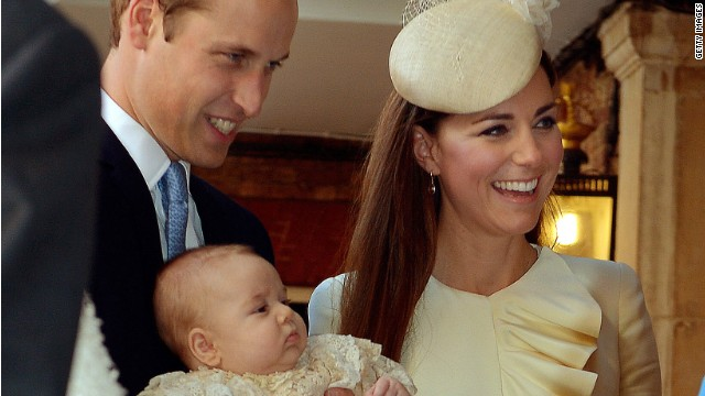 Prepping for Prince George's christening