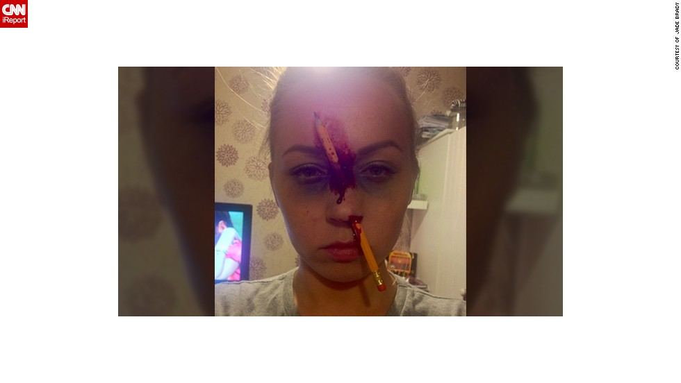 there is something a little too realistic about jade bradys halloween costume - Bloody Halloween Masks