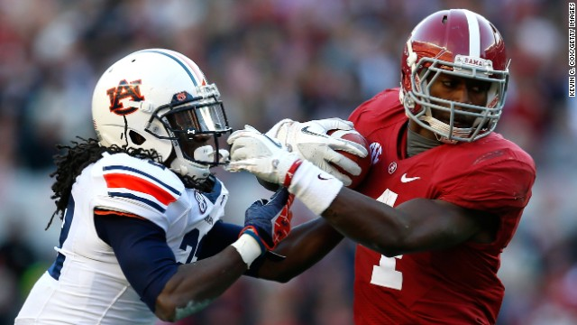 The Alabama Crimson Tide is taking on the Auburn Tigers in this year's Iron Bowl
