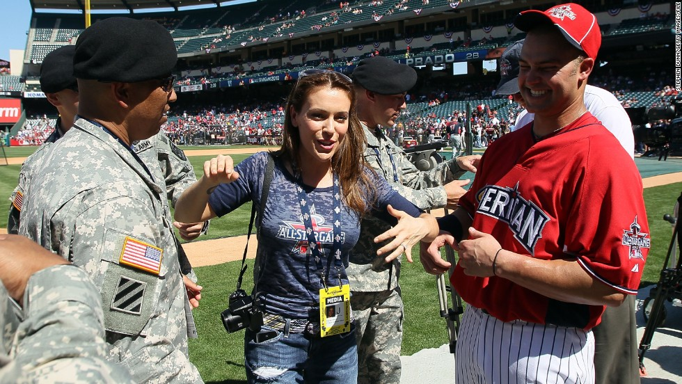 "Alyssa Milano is a huge baseball fan and doesn't mind if everybody knows. She's written a book about her love for the sport, ""Safe at Home,"" and has contributed columns and interviews to variety of media."